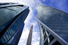 Офисные здания города Москвы Стоковое фото RF