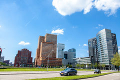 Офисные здания на Zuid-как в Амстердаме Стоковое Фото