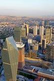 Офисные здания с взглядом моста Bosphorus Стоковое Изображение RF