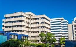 Офисные здания 1970s-1980s в районе Meriadeck Бордо, Франции Стоковое Изображение RF