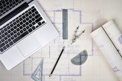 Офис архитектора Стоковая Фотография RF