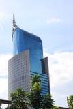 Офис архитектуры подъема стеклянного окна небоскреба высокого здания высокий в Джакарте Индонезии Стоковое фото RF