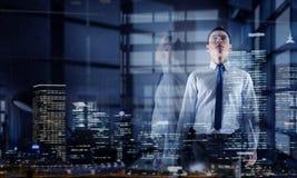 офис бизнесмена самомоднейший Мультимедиа Мультимедиа Стоковое Изображение