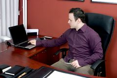 офис бизнесмена Стоковые Изображения