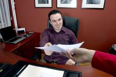 офис бизнесмена Стоковые Изображения RF
