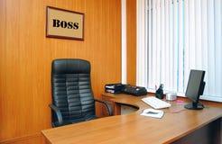 офис босса Стоковые Фото