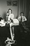Офис года сбора винограда женщины секретарши бухгалтера ретро Стоковые Изображения RF