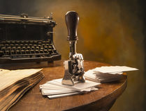 Офис года сбора винограда натюрморта Стоковая Фотография