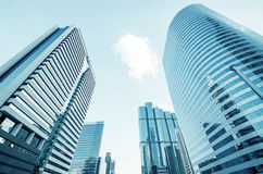 офис голубых зданий самомоднейший отражательный Стоковое Фото