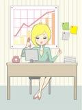 офис девушки Стоковое фото RF