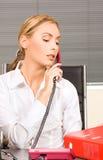 офис девушки Стоковое Изображение RF