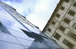 офис зданий новый старый Стоковое фото RF