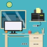 Офис дизайна, место для работы Стоковое Изображение RF