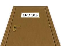 офис иллюстрации двери босса 3d к иллюстрация штока