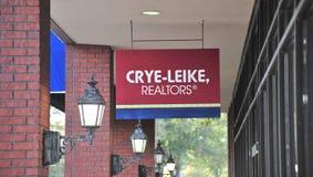 Офис имущественного агентства недвижимости Crye-Leike стоковые изображения