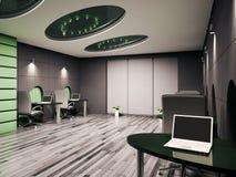 офис интерьера компьютера 3d бесплатная иллюстрация