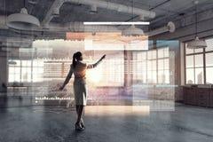 офис коммерсантки самомоднейший Мультимедиа Стоковые Изображения