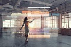 офис коммерсантки самомоднейший Мультимедиа Стоковое Изображение RF