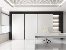 Офис корпоративный, 3d комнаты главного исполнительного директора представляет дизайн интерьера, насмешку вверх иллюстрация штока