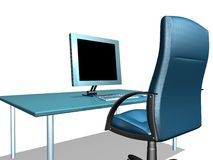 офис монитора lcd Стоковое Изображение RF