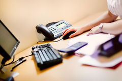 офис мыши компьютера Стоковое фото RF