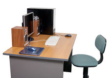 офис настольного компьютера Стоковая Фотография RF