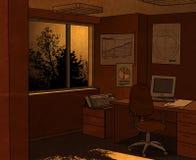офис ночи иллюстрация штока