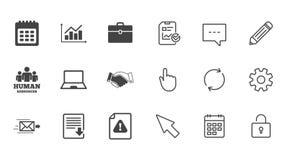 Офис, документы и значки дела бесплатная иллюстрация