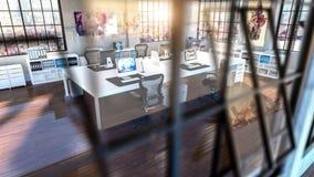 офис предпосылки самомоднейший Стоковое фото RF