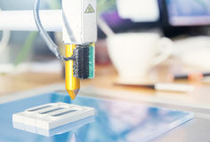 офис принтера 3D стоковое фото rf