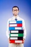 офис скоросшивателей бизнесмена Стоковое фото RF