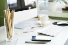 офис стола принципиальной схемы дела бухгалтерии Стоковые Изображения