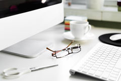 офис стола принципиальной схемы дела бухгалтерии Стоковое Изображение