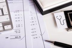 офис стола принципиальной схемы дела бухгалтерии Стоковое Изображение RF