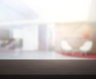 Офис столешницы и нерезкости предпосылки Стоковое Изображение RF