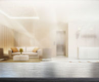 Офис столешницы и нерезкости предпосылки Стоковые Фотографии RF