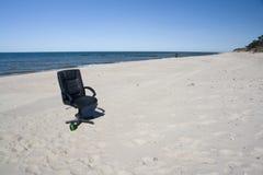 офис стула пляжа Стоковая Фотография RF