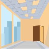 Офис с дверью иллюстрация штока