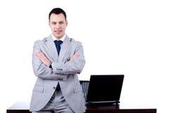 офис человека стола дела полагаясь Стоковые Изображения RF