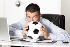 офис человека шарика Стоковое фото RF