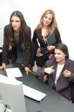 офис 9 девушок Стоковые Фото