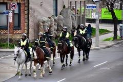 Офицеры конной полиции Торонто Стоковые Изображения