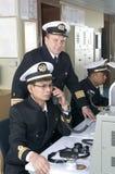 офицеры навигации стоковое изображение