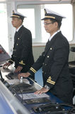 офицеры навигации стоковое фото