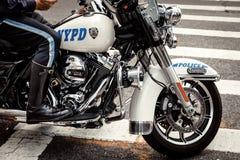 Офицеры NYPD на мотоциклах Стоковые Фотографии RF