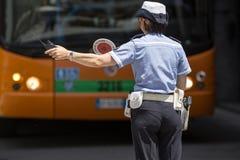 Офицер движения женский в Италии стоковое изображение rf