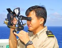 офицер навигации Стоковые Изображения