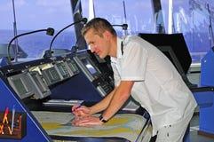 офицер навигации стоковое изображение rf