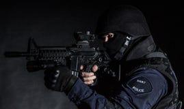 Офицер СВАТ Стоковая Фотография