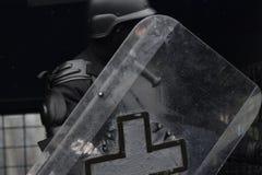 Офицер сдерживания толпы проходя парадом на национальном событии Стоковые Фотографии RF